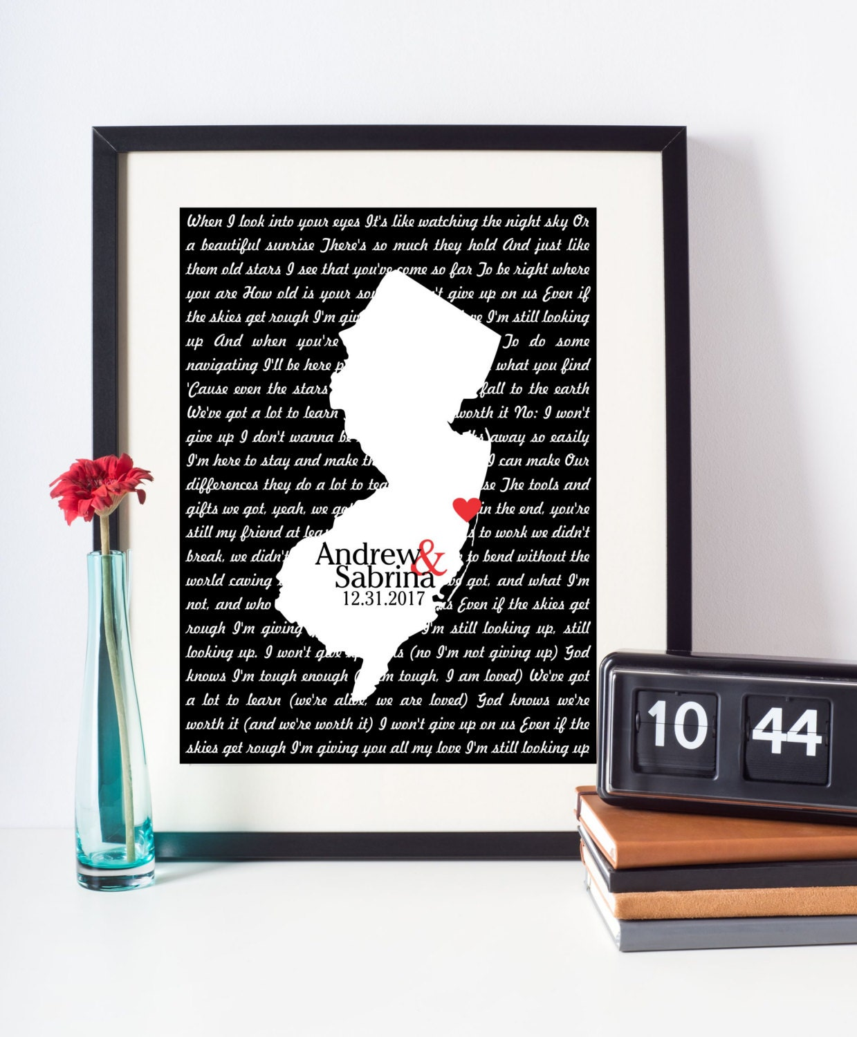 Wedding Song Lyrics Print First Dance Lyrics Art Any Location