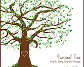 Beautiful Tree Clipart Design, Family Tree, Clipart Tall Tree, Graphics Oak Tree, Forest Clipart, Digital Scrapbook Family Tree, Green Tree