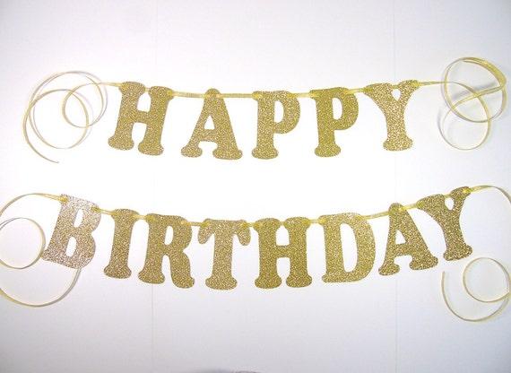 happy birthday banner birthday decor pink and gold birthday