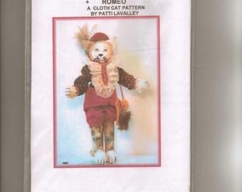"Doll Pattern,  ""Romeo,"" a Cloth Cat Pattern, by Patti LaValley"