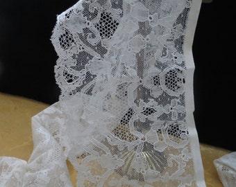 "Beautiful Spanish Hand Embroidered Antique Lace  ""Blonda Catalana"""