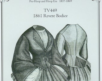 TV449 - Truly Victorian #449, 1861 Revere Bodice Sewing Pattern
