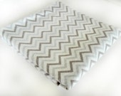 Flannel Swaddle Blanket - Gray Chevron Blanket  - Flannel Receiving Blanket - Gender Neutral Baby Gift - Baby Shower Gift