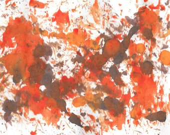 "Original Painting - 5"" x 7"" - Abstract - Multicolored India Ink Painting - 2015-493"