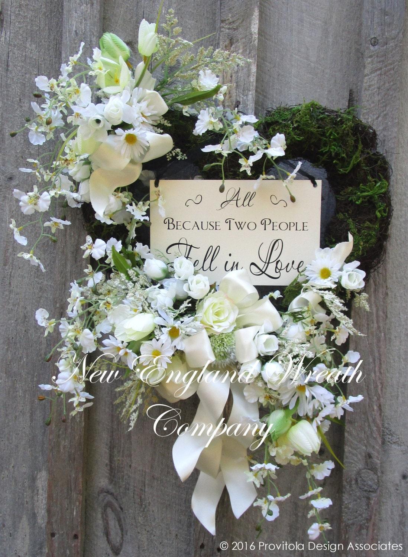 Wedding Wreath Bridal Shower Decor Anniversary Wreath