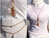 Vintage Leaf Layering Necklace Set-Fall jewelry-Bridal-Prom-Fashion-Jewelry Gift