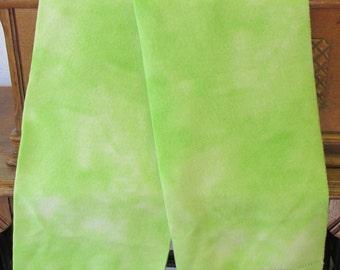 """Fleece Scarf - Lime Green Tie Dye (8"""" x 60"""")"""