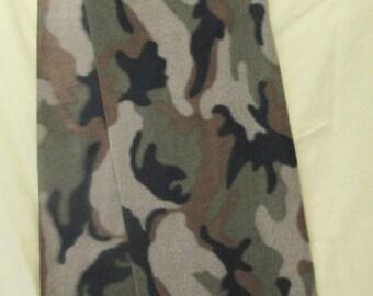 """Fleece Scarf - Brown/Green Camo #1  (8"""" x 58"""")"""