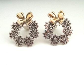 Vintage MJ Wreath Earrings