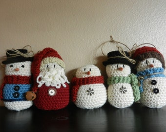 Crocheted Ornament Set of 5
