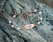 Wrapped Copper Monogram Bracelet