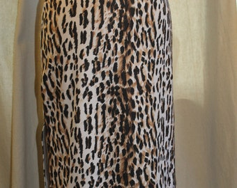 leopard skirt with hot pink velvet trim