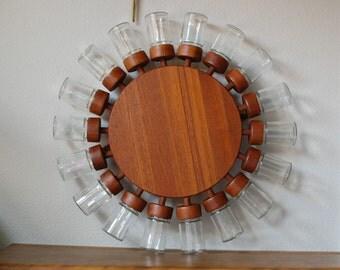 RESERVED for C  2 of 2 -  RARE 18 jar Digsmed spice wheel teak danish modern denmark mid century