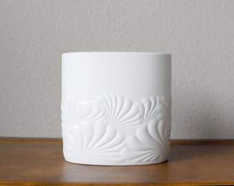 Vintage Studio Line Rosenthal Porcelain White Vase Op Art Modern