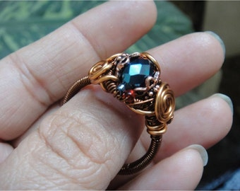 Vintage Style Copper Rings