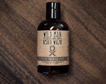 Wild Man Beard Wash THE NIHILIST Unscented Beard Soap Shampoo - 120ml // 4oz