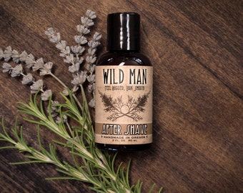 Mens Natural AFTER SHAVE Wild Man Natural Toner Grooming Gift 60ml // 2oz