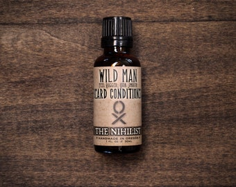 Beard Oil Conditioner Wild Man THE NIHILIST Unscented Gift For Him - 30ml // 1oz