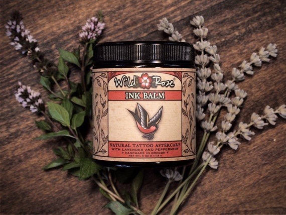 Tattoo Aftercare Natural INK BALM Tattoo Ointment 113g // 4 oz Botanical Herbal