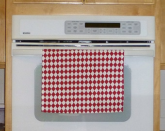 Red Kitchen Hand Towel - Diamonds Red Decorative Kitchen Towel