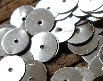 300 x silver colour sequin Moroccan mozuna metal discs handira wedding blanket 39g  10mm or 0.4""
