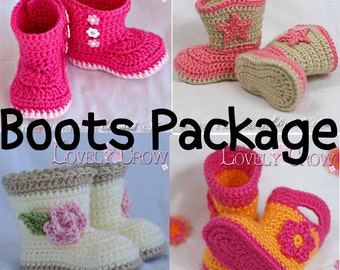 Crochet Patterns Baby Booties