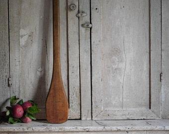 Antique Primitive Wooden Apple Butter Paddle, Primitive Antique Decor