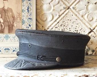 Rare Antique Postman's Hat Uniform Mailman Letter Carrier