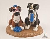 Pet Sculpture Wedding Cake Topper Customizable