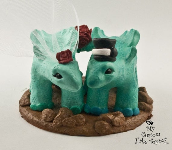 dinosaur wedding cake stegosaurus dinosaur wedding cake topper by mycustomcaketopper 13530