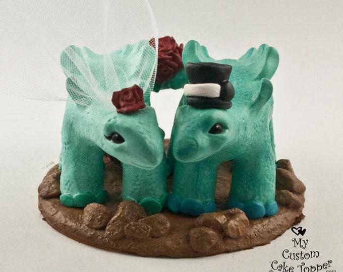 Stegosaurus Dinosaur Wedding Cake Topper