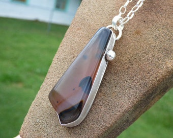 Montana Agate Sterling Silver Necklace