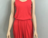 Vintage 80s Red Jumpsuit
