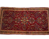 2x4 Dark Red Persian Sarouk Rug