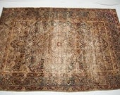 4x7 Antique Kerman Rug