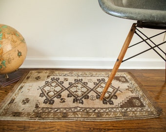 DISCOUNTED 2x2.5 Muted Vintage Turkish Rug