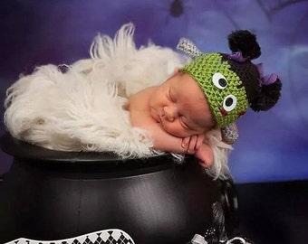 Girl Frankenstein hat and leggings