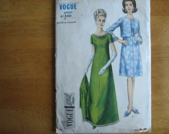 VOGUE Special Design  Pattern 6944 Misses' Dress and Jacket    circa 1966