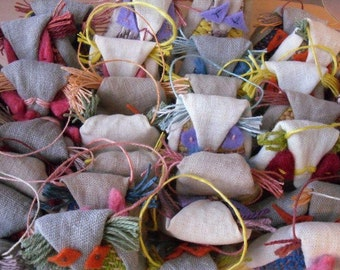 Civettina alla lavanda, tessuta a telaio, naturale - Sb sciarpe a telaio