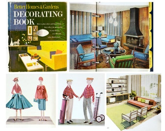 Mid century, decorating book, home and garden, 1960s, fun, retro, eames, mad men, atomic
