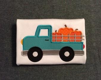 Little Boys Pumpkin Truck Shirt. Size 4T