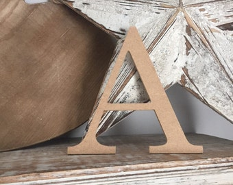 wooden letters, wall letter, not free-standing,  unpainted, Roman font, letter A, 15.5cm - READY TO SHIP