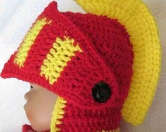 Custom order. Crochet Viking/Trojan/Earflap Hat/ Halloween/Renaissance/Spartan/Titan/Snowboard/Ski Beanie Helmet Hat/BabyHat