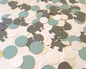 Elephant Baby Shower Decorations / Elephant Table Scatter /  Blue & Gray elephant CONFETTI - Gray elephant / Custom colors