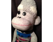 Sock Monkey - Happy Camper