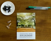 Chicago Desk Calendar, Architecture Photography Calendar, 2016 Calendar, Chicago Photography, Chicago Places and Spaces
