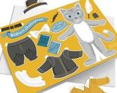 Dress Up Shakespeare cat Card