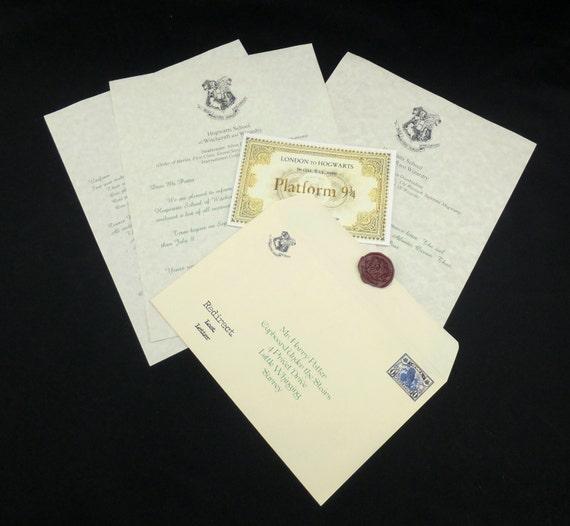 how to make hogwarts acceptance letter seal