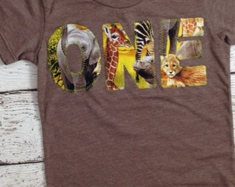 Zoo Animal jungle safari Birthday Shirt Zoo Birthday Organic Blend Tee first second third fourth birthday girl or boy