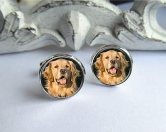 Pet Photo Cufflinks, Custom Photo Cufflinks, Personalized Keepsake For Dad